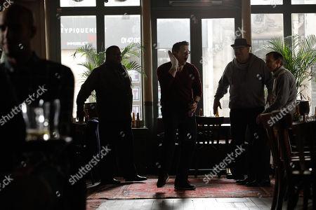 Antoine McKay as Gregory Gordon, Chris Conrad as Dennis McClaren, Tony Fitzpatrick as Jack Birdbath, Julian Richings as Peter Icabod
