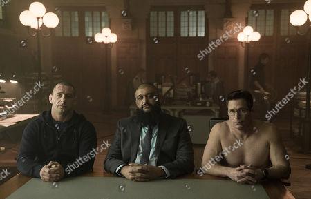 Jay Valko as Harrigan Barros, Azhar Usman as Kkyman Candahar, Chris Conrad as Dennis McClaren