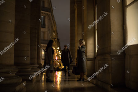 Stock Picture of Kathleen Munroe as Alice Tavner, Aliette Opheim as Detective Agathe Albans