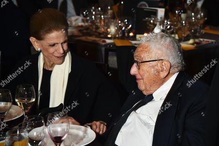 Stock Picture of Annette de la Renta, Henry Kissinger