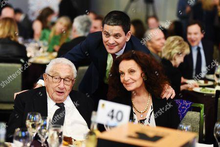 Henry Kissinger, David Miliband, Diane von Furstenberg