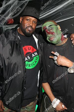 Stock Photo of DJ Clark Kent and Slick Rick