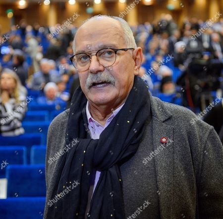 """The XXII World Russian People's Council devoted to the theme """"25 years towards public dialogue and civilizational development of Russia"""" took place at the State Kremlin Palace. Chairman of the Union of Cinematographers of Russia, film director Nikita Mikhalkov before the meeting"""