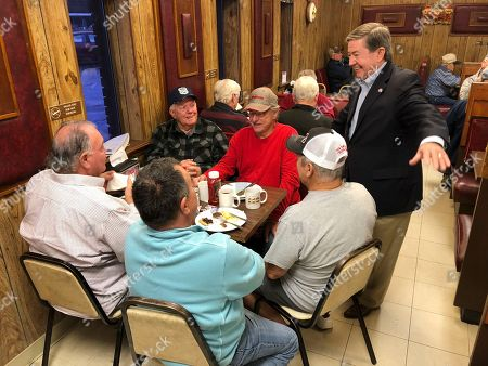 Drew Edmondson, the Democratic nominee for Oklahoma governor, speaks to patrons at JD's Diner in Ada, Okla. Edmondson is hoping to break the GOP's stranglehold on state government in Oklahoma with a win over Republican Kevin Stitt in the race to replace term-limited GOP Gov. Mary Fallin