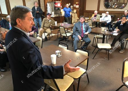 Drew Edmondson, the Democratic nominee for Oklahoma governor, speaks at JD's Diner in Ada, Okla. Edmondson is hoping to break the GOP's stranglehold on state government in Oklahoma with a win over Republican Kevin Stitt in the race to replace term-limited GOP Gov. Mary Fallin