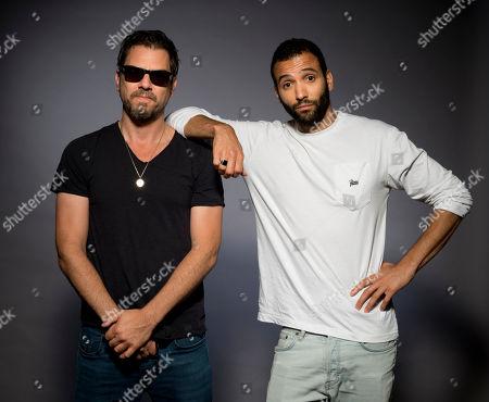 "Ariel Vromen, Marwan Kenzari. Ariel Vromen, left, and Marwan Kenzari pose for a portrait to promote his latest film ""The Angel"" in Los Angeles, Calif"