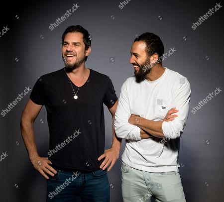 "Stock Picture of Ariel Vromen, Marwan Kenzari. Ariel Vromen, left, and Marwan Kenzari pose for a portrait to promote his latest film ""The Angel"" in Los Angeles, Calif"
