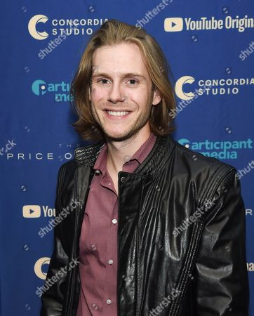"Zachary Booth attends a special screening of ""The Price of Free"" at the Museum of Modern Art, in New York"