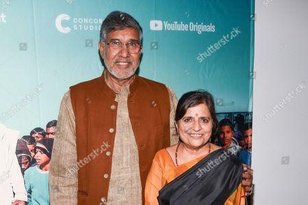 Kailash Satyarthi and Sumedha Satyarthi