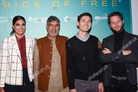 Rachel Roy, Kailash Satyarthi, Derek Doneen and Derek Blasberg