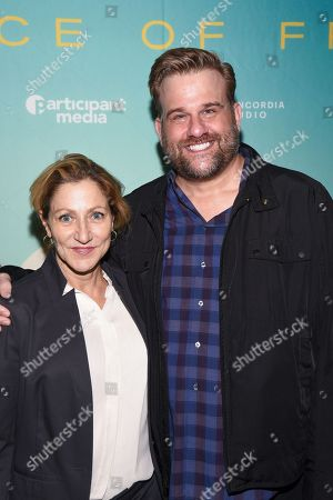 Edie Falco and Stephen Wallem