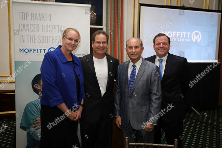 MD Sarah Hoffe, MD, Douglas Letson, MD Louis Harrison, and MD Jason Fleming attends the Moffitt Cancer Center's New York Leadership Series at the Metropolitan Club on in New York