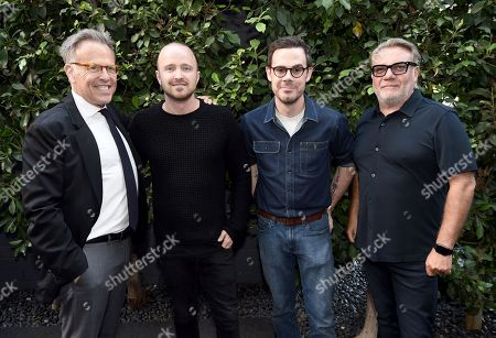 Producer Mark Johnson, from left, Aaron Paul, director Christopher Cantwell, and The H Collective CEO/producer Nic Crawley at a presentation for 'The Parts You Lose,' hosted by Blue Fox Entertainment, who is handling international sales.