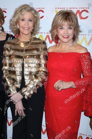 Jane Fonda and Pat Mitchell