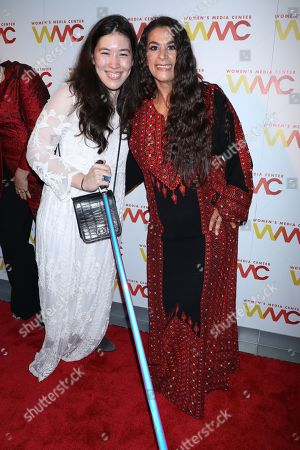 Maysoon Zayid (R) and guest (L)
