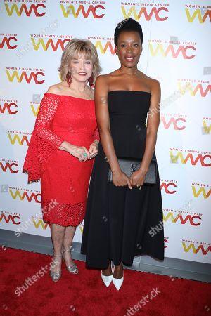 Pat Mitchell and Elizabeth Nyamayaro