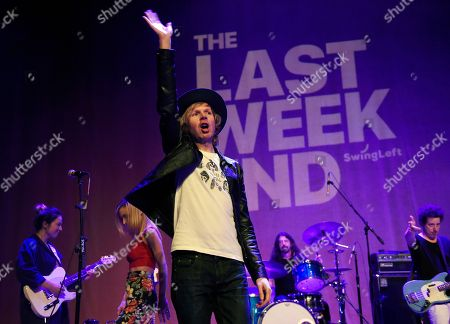 Beck performs onstage
