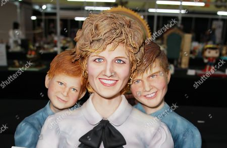 Princess Diana, William and Harry Cakes  at Cake International held at the NEC Birmingham.