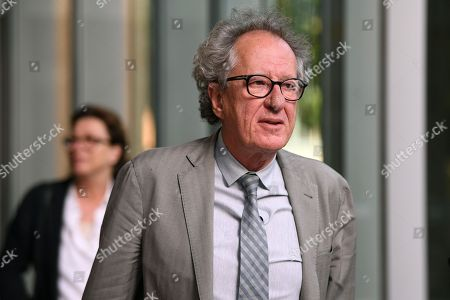Australian actor Geoffrey Rush leaves the Federal Court in Sydney, New South Wales, Australia, 02 November 2018. Australian actor Geoffrey Rush is suing Nationwide News for defamation.