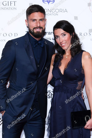 Stock Image of Olivier Giroud and Jennifer Giroud