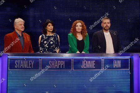 (L-R) Stanley Johnson, Shappi Khorsandi, Jennie McAlpine and Iain Lee