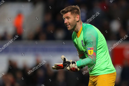 Paul Gallagher of Preston North End goes in goal after Chris Maxwell of Preston North End is sent off - Ipswich Town v Preston North End, Sky Bet Championship, Portman Road, Ipswich - 3rd November 2018