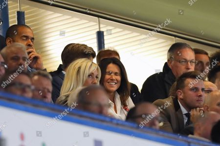 TV Presenter, Susanna Reid watches with Crystal Palace chairman Steve Parish - Chelsea v Crystal Palace, Premier League, Stamford Bridge, London - 4th November 2018