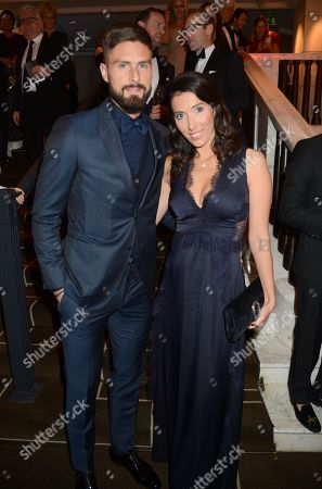 Stock Picture of Olivier Giroud and Jennifer Giroud