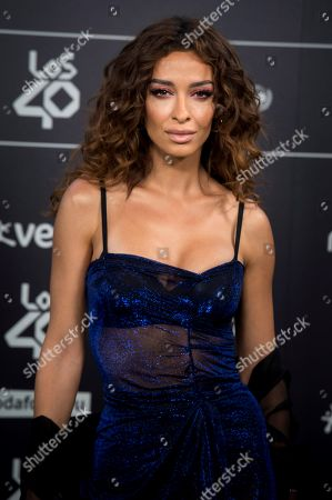 Eleni Foureira poses for the photographers during the Los40 Music Awards gala celebrated at Wizink Center in Madrid, Spain, 02 November 2018.