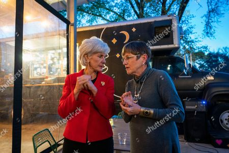 Editorial image of Laura Kelly campaigns for Kansas gubernatorial seat, Lawrence, USA - 02 Nov 2018