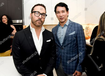 Jeremy Piven and Fashion Designer Rene Ruiz attend the Cavache Properties, The Developers of 30 Thirty North Ocean Cocktail Party