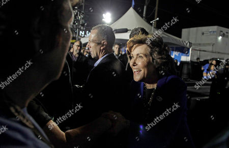 US Senate candidate Jacky Rosen greets supporters during a get-out-the-vote rally in Las Vegas, Nevada, USA, 02 November 2018. The rally was headlined by late-night comedian Jimmy Kimmel and singer Brandon Flowers of the Las Vegas-based band The Killers. Rosen is in a tight race challenging incumbent Republican Senator Dean Heller.