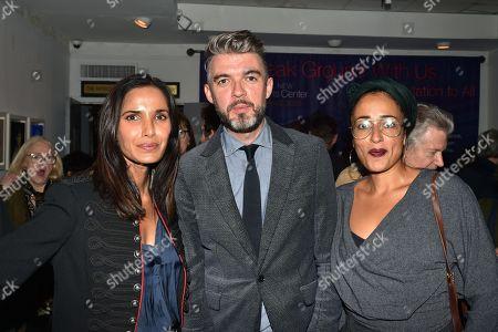 Stock Image of Padma Lakshmi, Nick Laird and Zadie Smith