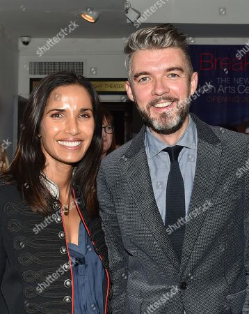 Stock Picture of Padma Lakshmi and Nick Laird