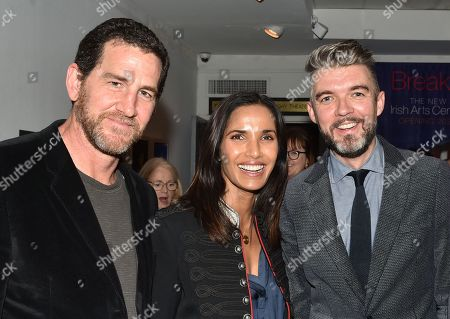 Adam Dell, Padma Lakshmi and Nick Laird