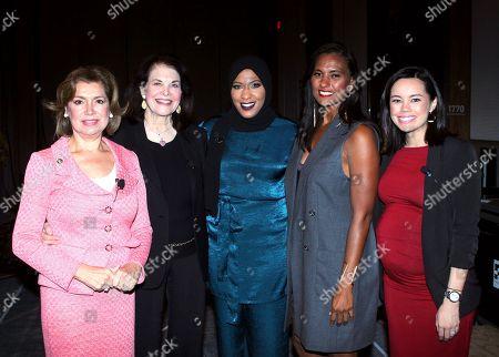 Sherry Lansing, Ibtihaj Muhammad, Christine Simmons and Maria Contreras Sweet