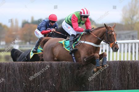 DEFINITLY RED (1) ridden by Danny Cook and trained by Brian Ellison winning The Class 1 bet365 Charlie Hall Steeple Chase over 3m (£100,000) during the Bet365 Meeting at Wetherby Racecourse, Wetherby. Picture by Mick Atkins