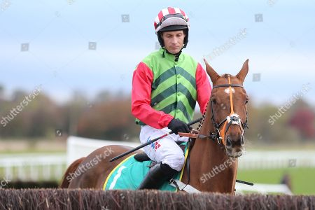 Stock Picture of DEFINITLY RED (1) ridden by Danny Cook and trained by Brian Ellison prior to winning The Class 1 bet365 Charlie Hall Steeple Chase over 3m (£100,000) during the Bet365 Meeting at Wetherby Racecourse, Wetherby. Picture by Mick Atkins