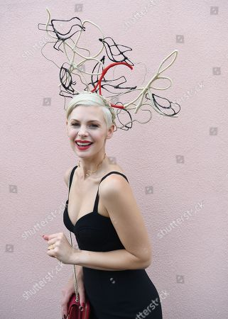 Australian model and television presenter Kate Peck is seen during the AAMI Victoria Derby Day, as part of the Melbourne Cup Carnival, at Flemington Racecourse in Melbourne, Victoria, Australia, 03 November 2018.