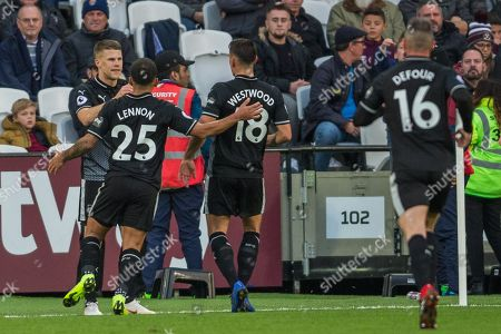 Johann Berg Gudmundsson (Burnley) celebrates his goal during the Premier League match between West Ham United and Burnley at the London Stadium, London