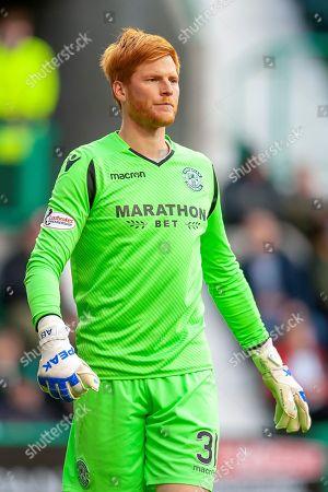 Adam Bogdan (#31) of Hibernian FC during the Ladbrokes Scottish Premiership match between Hibernian and St Johnstone at Easter Road, Edinburgh
