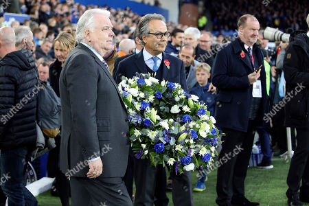 Everton Chairman Bill Kenwright and owner Farhad Moshiri during the Premier League match between Everton and Brighton and Hove Albion at Goodison Park, Liverpool