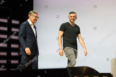 Michael Ovitz, Gary Vaynerchuk. Michael Ovitz, left, and Gary Vaynerchuk seen on day one of Summit LA18 in Downtown Los Angeles, in Los Angeles