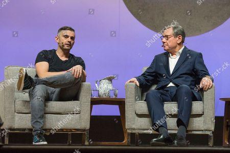Gary Vaynerchuk, Michael Ovitz. Gary Vaynerchuk, left, and Michael Ovitz seen on day one of Summit LA18 in Downtown Los Angeles, in Los Angeles