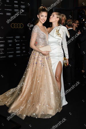 Victoria Swarovski (R) and her sister Model Paulina Swarovski (L) arrive for the 25th Opera Gala of the German Aids Foundation in Berlin, Germany, 03 November 2018. The gala is one of the most important charity events to be hosted in the German capital.