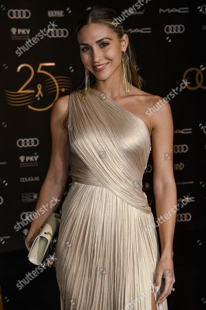 Stock Photo of Ann-Kathrin Broemmel arrives for the 25th Opera Gala of the German Aids Foundation in Berlin, Germany, 03 November 2018. The gala is one of the most important charity events to be hosted in the German capital.