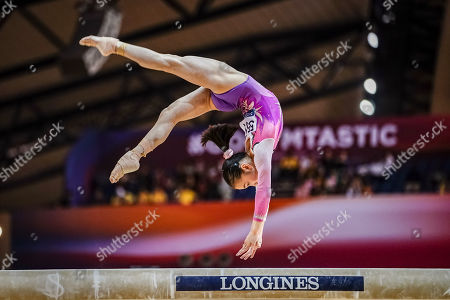 Jin Zhang of China during Balance Beam for Women at the Aspire Dome in Doha, Qatar, Artistic FIG Gymnastics World Championships