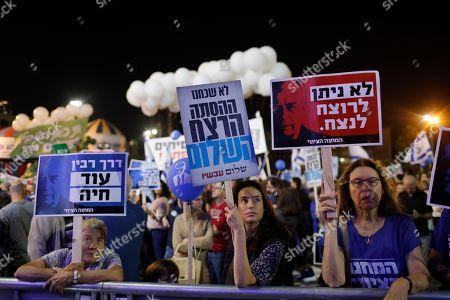 Editorial image of 23th anniversary of Yitzhak Rabin assassination, Tel Aviv, Israel - 03 Nov 2018