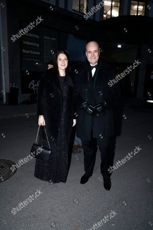 Stock Photo of Fredrik Reinfeldt, Roberta Alenius