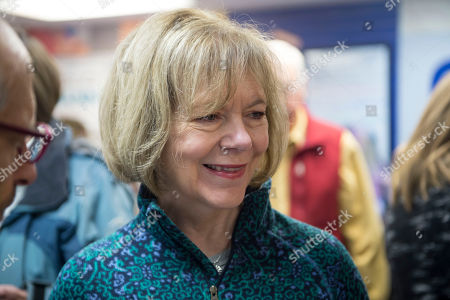 Democrat Sen. Tina Smith, who is campaigning for the US Senate, talks with campaign volunteers in Burnsville, Minnesota USA, 03 November 2018. Smith is challenging Republican Karin Housley for the Senate seat formerly held by Al Franken in the 06 November midterm elections.